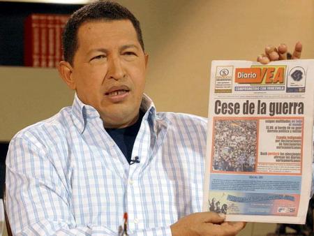 Fernando Lugo - l'Amérique latine Chavez_guerra