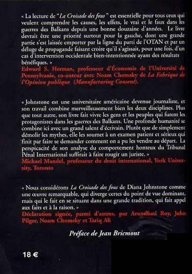 La Destruction de la Yougoslavie : un livre important Johnstone2