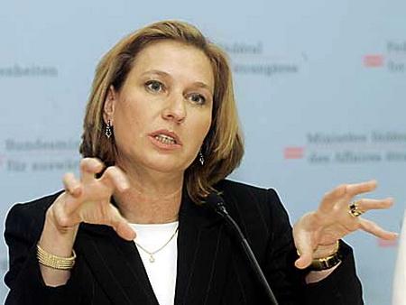 Gaza : la responsabilité directe de la France et de l'Union Européenne Livni1